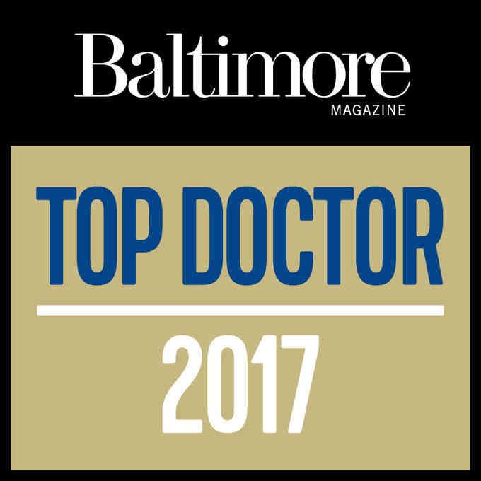 Dr. Chad Zooker, voted a 2017 Top Doc by Baltimore Magazine